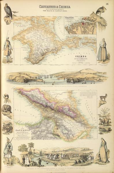The Royal Illustrated Atlas - Caucausus and Crimea (1872)