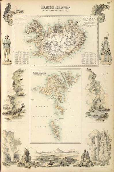 The Royal Illustrated Atlas - Danish Islands in the North Atlantic Ocean (1872)