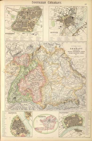 The Royal Illustrated Atlas - Southern Germany (1872)