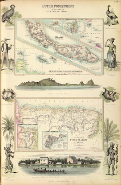 The Royal Illustrated Atlas - Dutch Possessions in South America and the West Indies (1872)