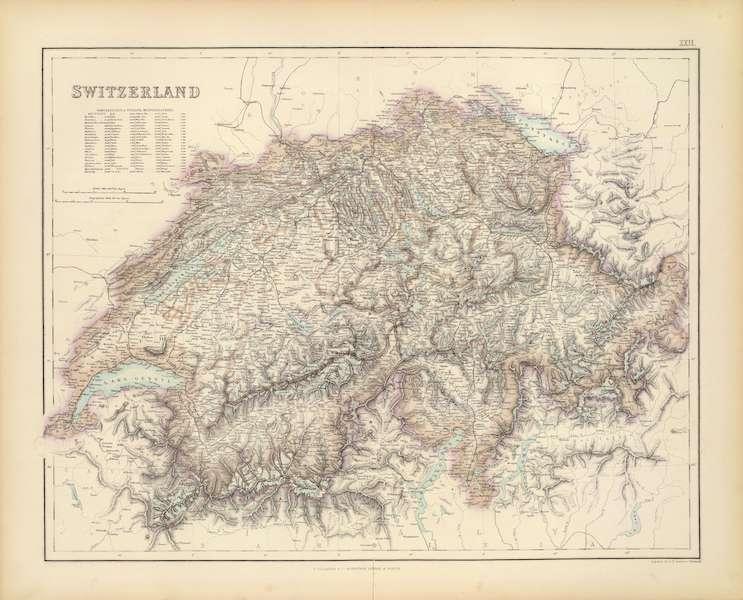 The Royal Illustrated Atlas - Switzerland (1872)