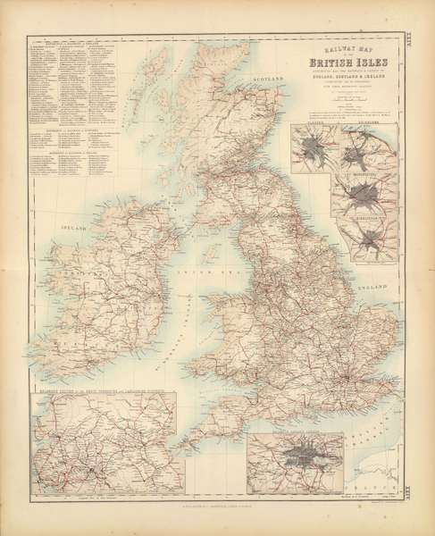 The Royal Illustrated Atlas - Railway Map of the British Isles (1872)