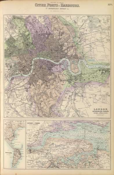 The Royal Illustrated Atlas - England and Wales Cities Ports and Harbours (1872)
