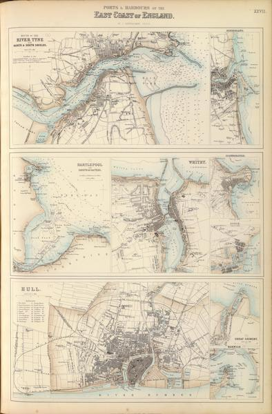 The Royal Illustrated Atlas - Ports and Harbours on the East Coast of England (1872)