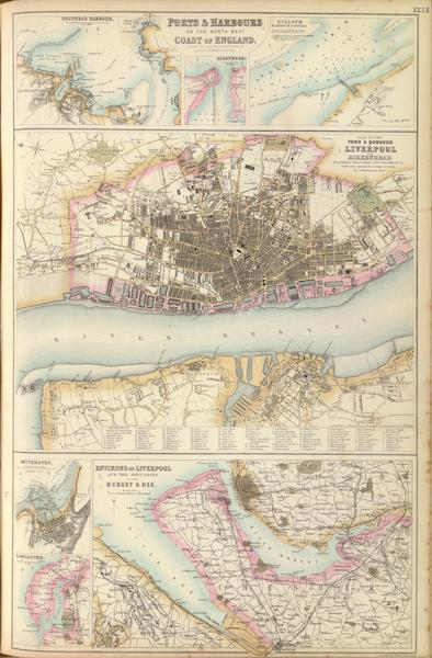 The Royal Illustrated Atlas - Ports and Harbours on the North West Coast of England (1872)