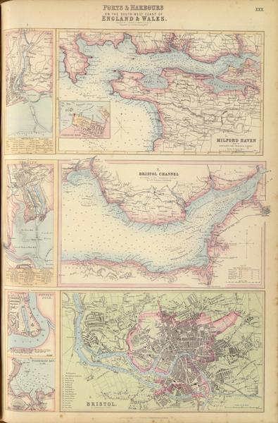 The Royal Illustrated Atlas - Ports and Harbours on the South West Coast of England (1872)