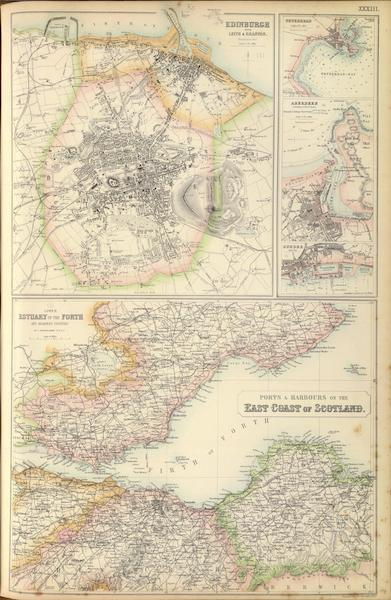 The Royal Illustrated Atlas - Ports and Harbours on the East Coast of Scotland (1872)