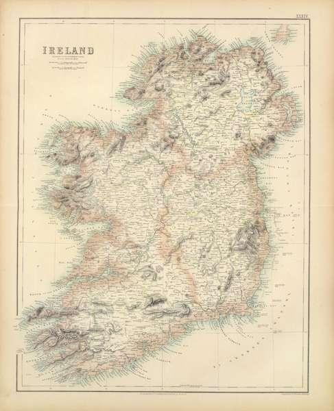 The Royal Illustrated Atlas - Ireland (1872)