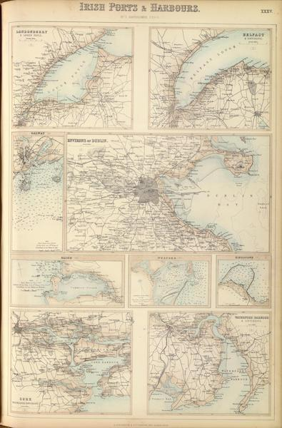 The Royal Illustrated Atlas - Irish Ports and Harbours  (1872)