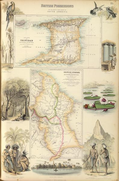 The Royal Illustrated Atlas - British Possessions on the North East Coast of South America (1872)