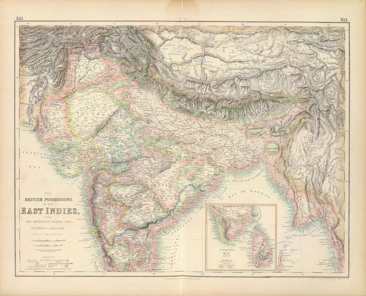 The Royal Illustrated Atlas - The British Possessions in the East Indies (1872)