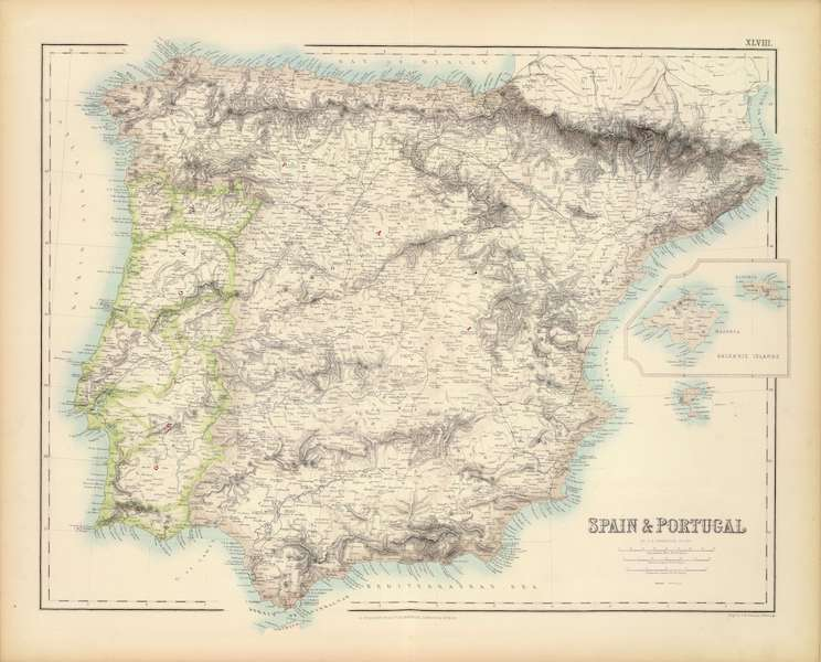 The Royal Illustrated Atlas - Spain and Portugal (1872)
