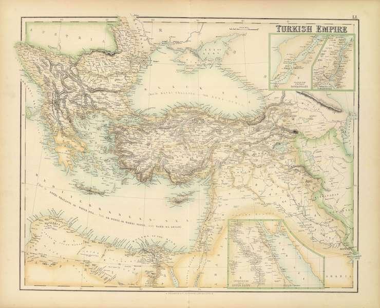 The Royal Illustrated Atlas - Turkish Empire (1872)
