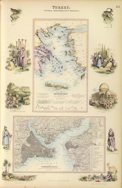 The Royal Illustrated Atlas - Turkey Central Mediterranean Regions (1872)