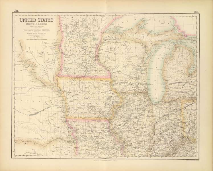 The Royal Illustrated Atlas - United States - North Central Section (1872)