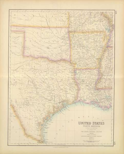 The Royal Illustrated Atlas - United States - South Central Section (1872)