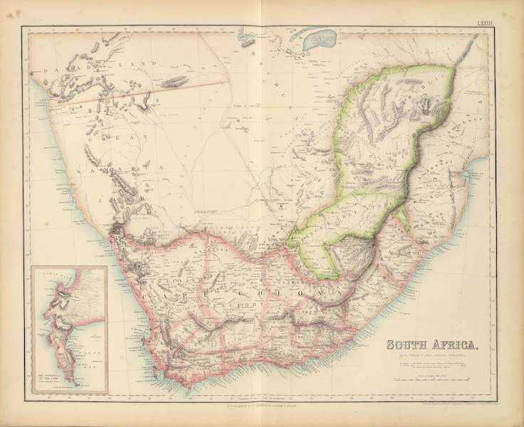 The Royal Illustrated Atlas - South Africa (1872)
