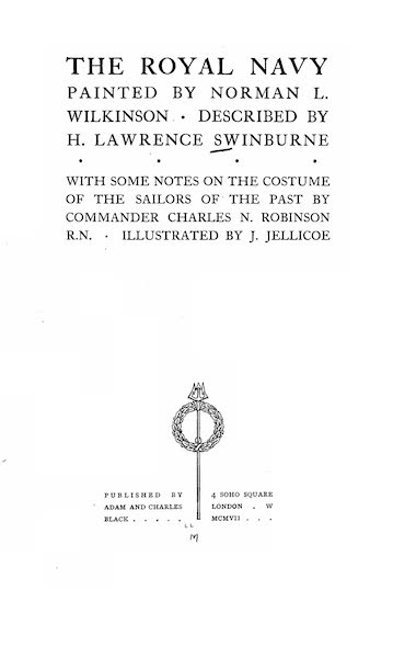 The Royal Navy, Painted and Described - Title Page (1907)