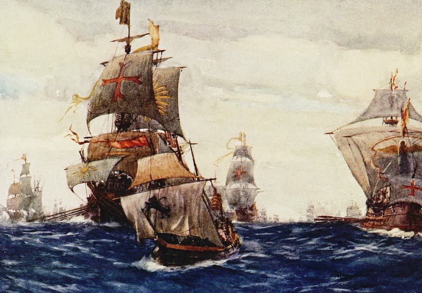 The Royal Navy, Painted and Described - The Spanish Armada in the Bay of Biscay (1907)