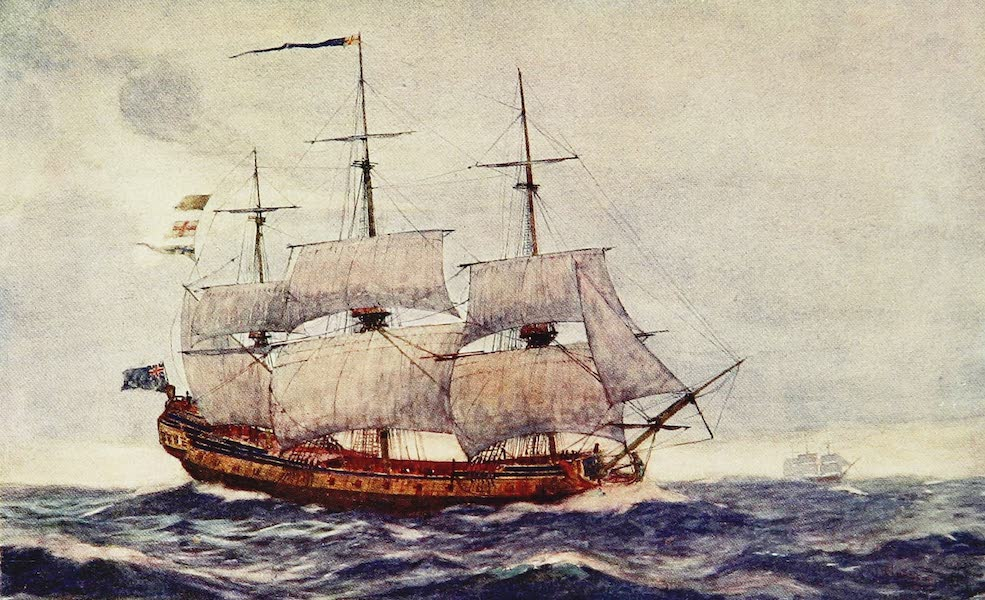 The Royal Navy, Painted and Described - An Early Type of Frigate, H.M.S. June. 1750 (1907)
