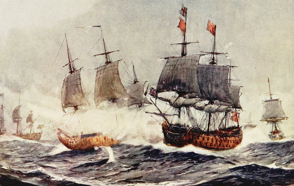 The Royal Navy, Painted and Described - The Battle of Quiberon Bay. 1759 (1907)