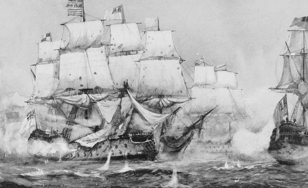 The Royal Navy, Painted and Described - Lord Howe's Action with the French off Ushant. June 1st, 1794 (1907)
