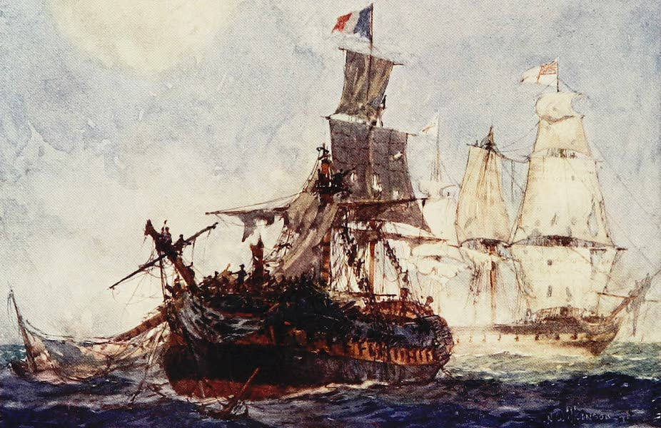 The Royal Navy, Painted and Described - Action between H.M.S. Phoenix and the French Frigate Didon. August 10th, 1805 (1907)
