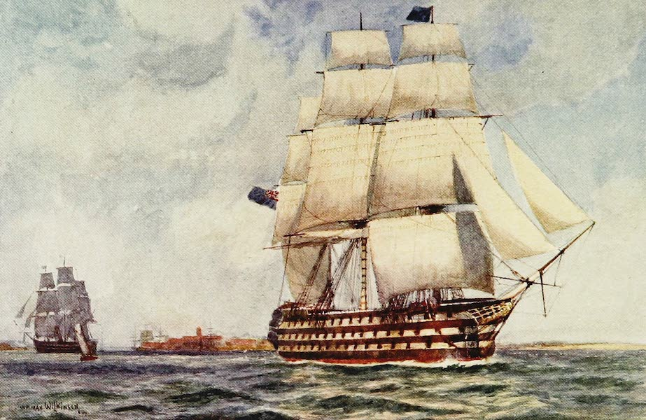 The Royal Navy, Painted and Described - H.M.S. Battleship Queen. 1839 (1907)