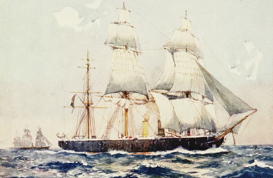 The Royal Navy, Painted and Described - The First British Seagoing Ironclad, H.M.S. Warrior, 1863 (1907)