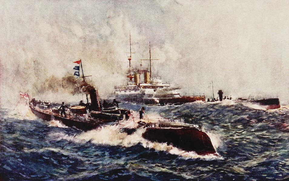 The Royal Navy, Painted and Described - H.R.H. Prince of Wales first Command, Torpedo Boat 79. 1889 (1907)