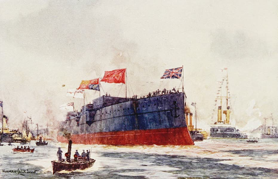 The Royal Navy, Painted and Described - The Launch of a Battleship (1907)