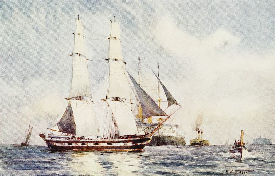 The Royal Navy, Painted and Described - A Training Brig. 1902 (1907)