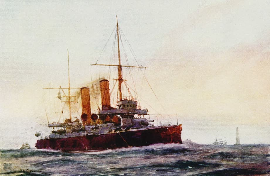 The Royal Navy, Painted and Described - H.M. First Class Cruiser Blenheim (1907)
