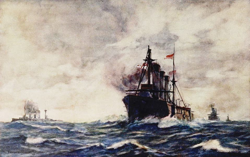 The Royal Navy, Painted and Described - A County Cruiser cleared for Action (1907)