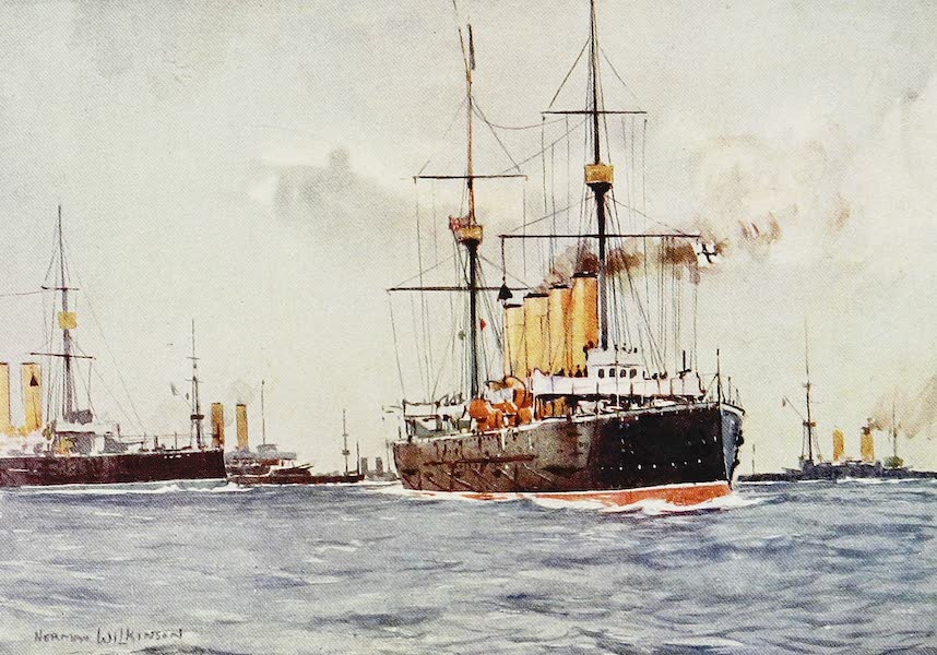 The Royal Navy, Painted and Described - Cruisers Manoeuvring (1907)
