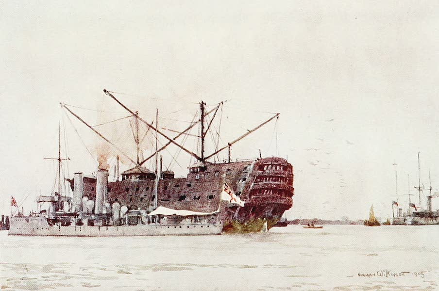 The Royal Navy, Painted and Described - A Coal Hulk. the Pitt now broken up (1907)