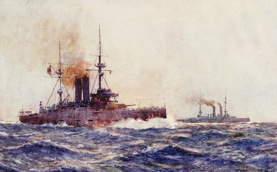 The Royal Navy, Painted and Described - H.M. Battleships King Edward VII, and Queen (1907)