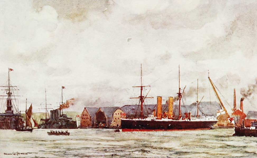 The Royal Navy, Painted and Described - Portsmouth Harbour (1907)