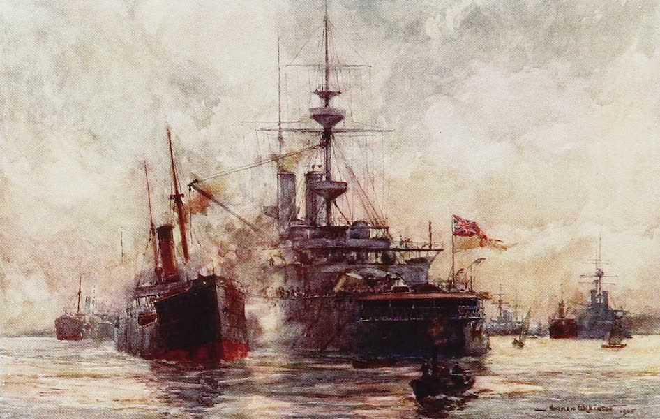 The Royal Navy, Painted and Described - Coaling a Battleship (1907)