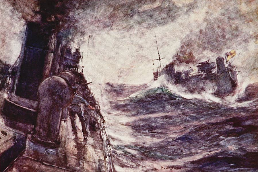 The Royal Navy, Painted and Described - Destroyers at Sea (1907)