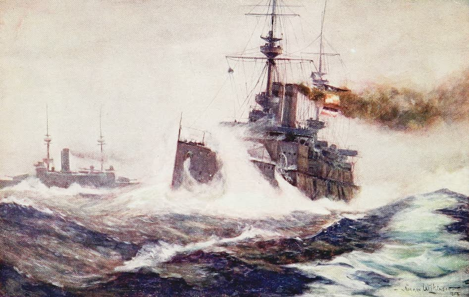 The Royal Navy, Painted and Described - Heavy Weather (1907)