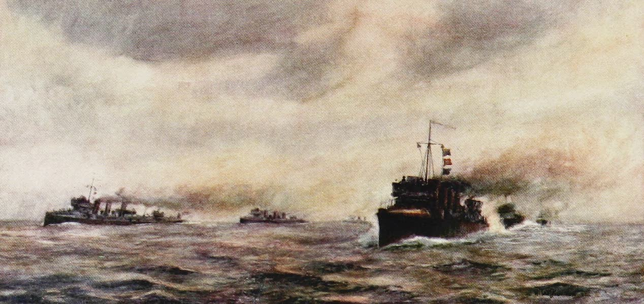 The Royal Navy, Painted and Described - Destroyer Manoeuvring (1907)