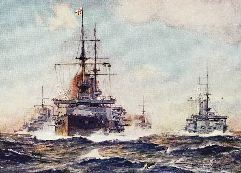 The Royal Navy, Painted and Described - Battleships Manoeuvring (1907)