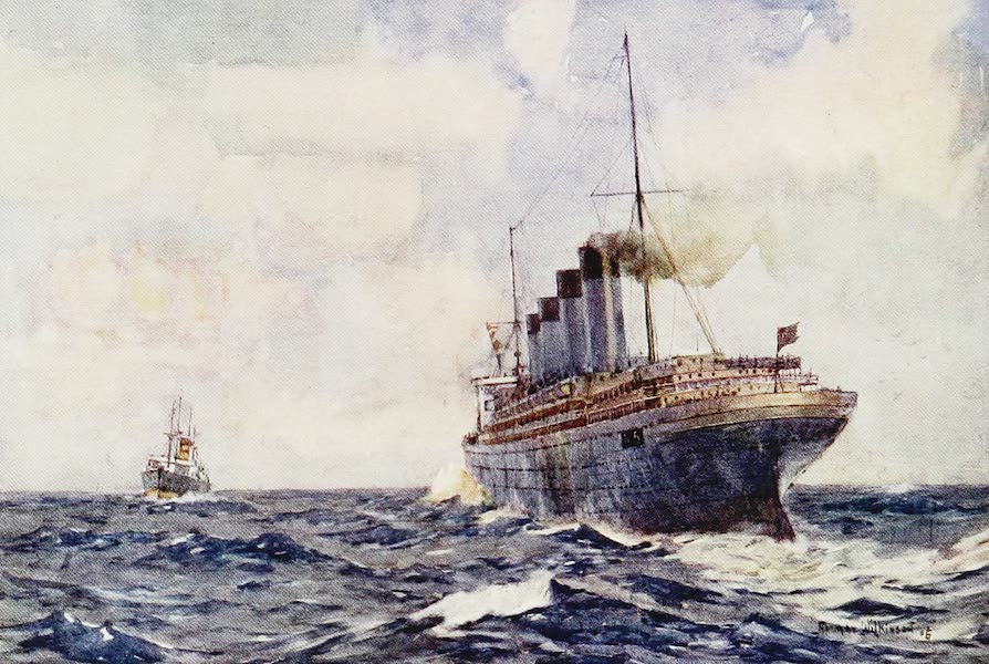 The Royal Navy, Painted and Described - S.S. Lusitania as an Auxiliary Cruiser in Warfare (1907)