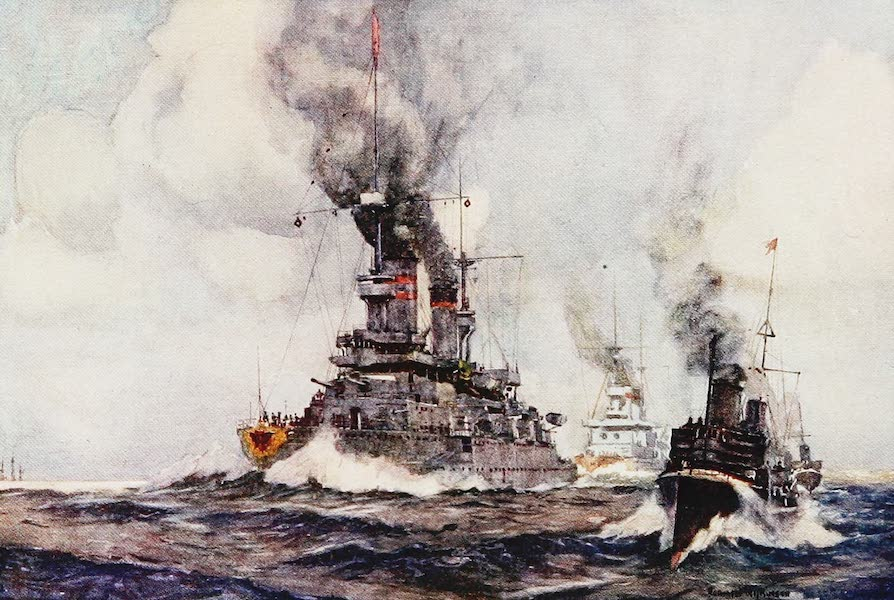 The Royal Navy, Painted and Described - German Battleships and Destroyers (1907)