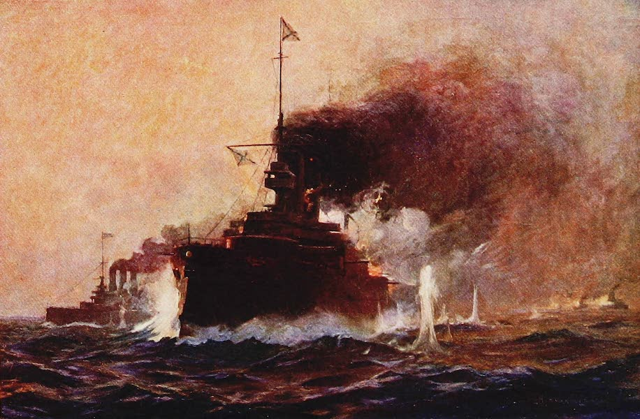 The Royal Navy, Painted and Described - The Action off Port Arthur between the Japanese and Russians. August 10th, 1904 (1907)