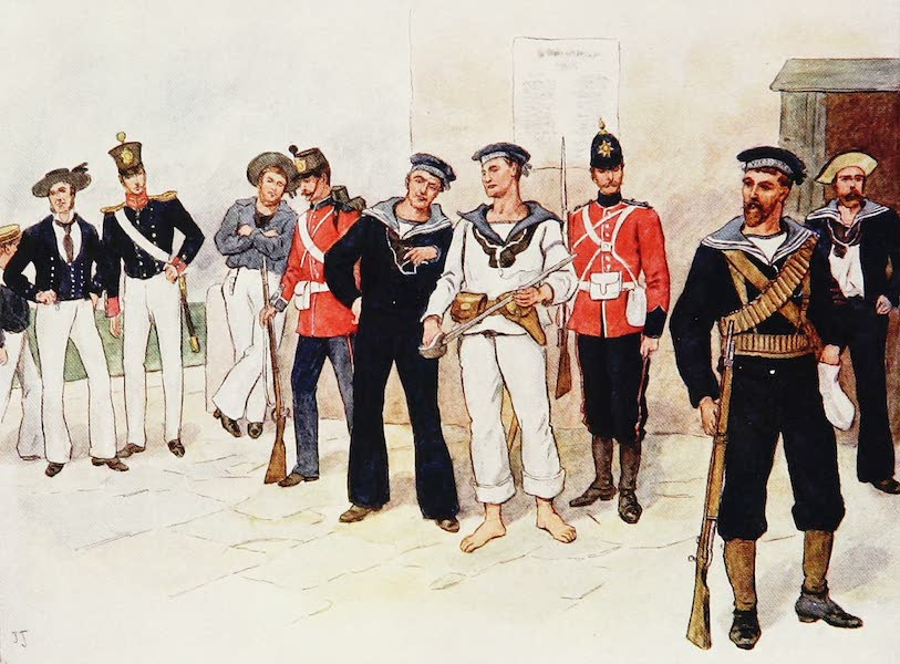 The Royal Navy, Painted and Described - Seaman's Dress, circa A.D. 1850 to 1900 (1907)