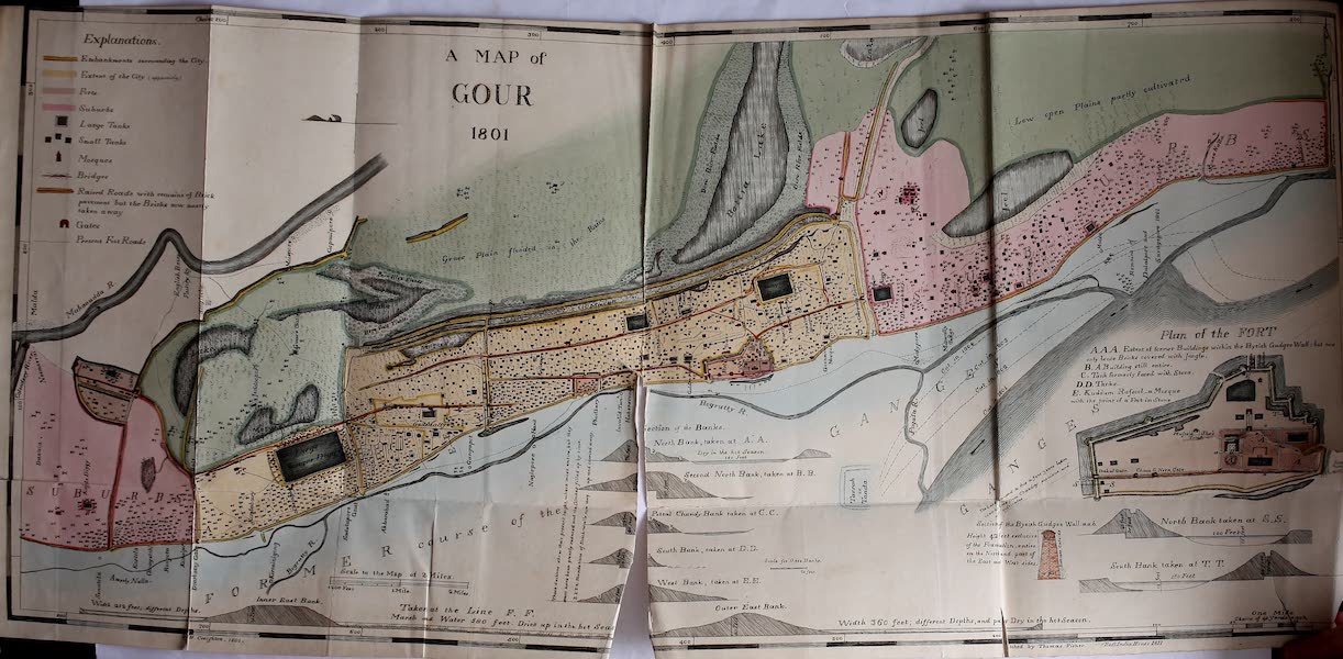 The Ruins of Gour - Topographical Map of Gour (1817)