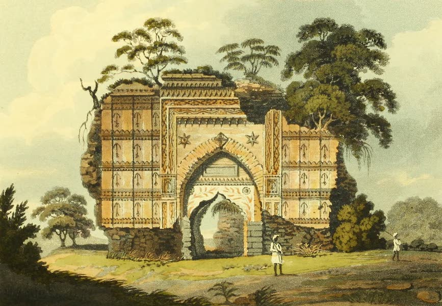 The Ruins of Gour - The Cha'nd Gate (1817)