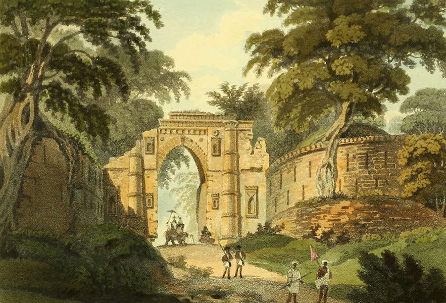 The Ruins of Gour - The Cutwa'ly Gate [Kotwali Darwaza] (1817)